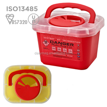 Best Selling Products Disposable Medical Sharps Container With Handle