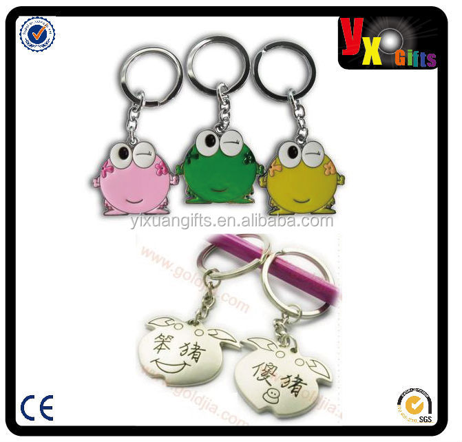 screws shaped gifts/diary/facial makeup 3D new design keyring starfish custom metal keychain