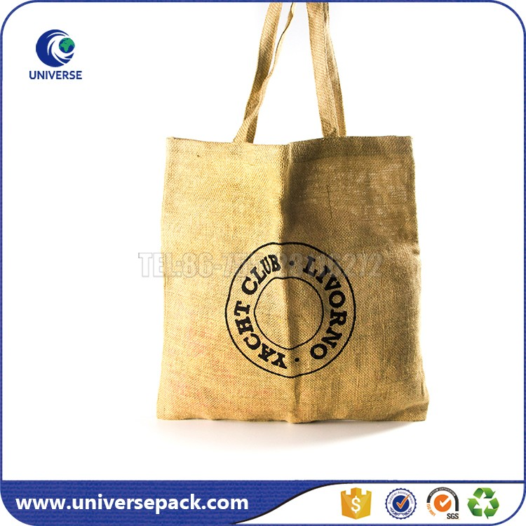 Alibaba China hand made jute bags with logo printing for shopping