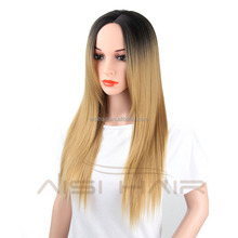 Long Straight Ombre Blonde Hair Synthetic Wigs For Black Women Cosplay Wig