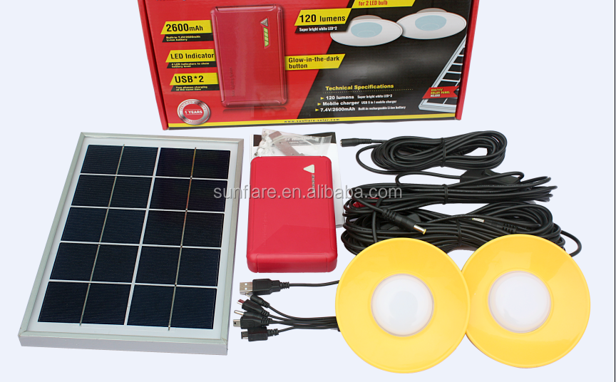 6w surper bright high quality solar lighting system
