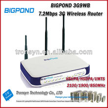 Original Unlock HSDPA 7.2Mbps BigPond 3G9WB 3G Wireless Router With Ethernet RJ45 Port
