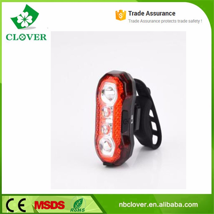 ABS waterproof material 150 lumens bicycle rear light usb rechargeable led bike light