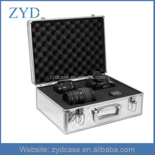 Diamond Pattern Useful Aluminum Camera Bag With Pre-diced Foam Padding ZYD-HZMcm007
