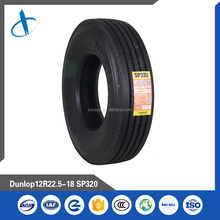 Mid-Long distance truck tyre Brand Dunlop Pattern SP320 11R22.5 12R22.5 295/80R22.5 315/80R22.5