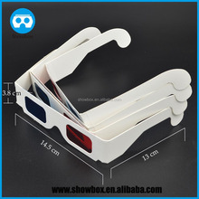 red blue 3d glasses virtual reality glasses for movies experience paper 3d glasses