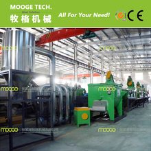 Industrial waste plastic film washing and recycling machine