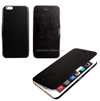 "Elegant Series Synthetic Leather Folio Flip Cover Case with Magnet for iPhone 6 4.7"" (Black)"