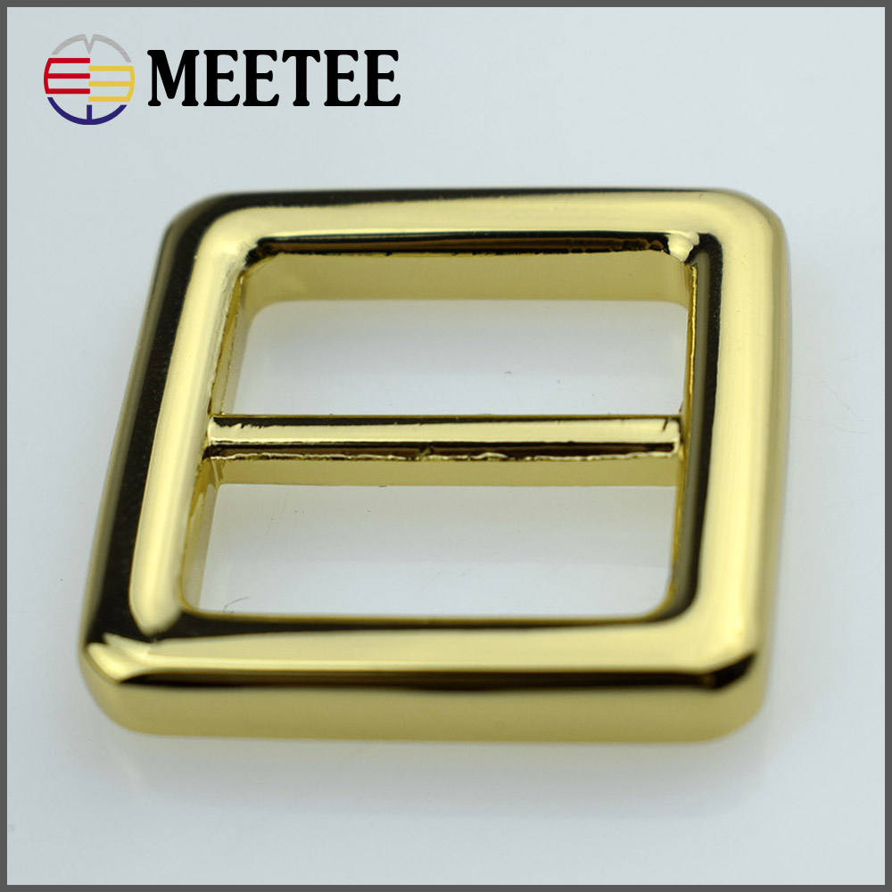 2017 high grade 20MM zin alloy bag and luggage buckle Shoulder strap adjustment buckle hardware accessory gold color