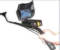 Under vehicle inspection camera long range radar locator