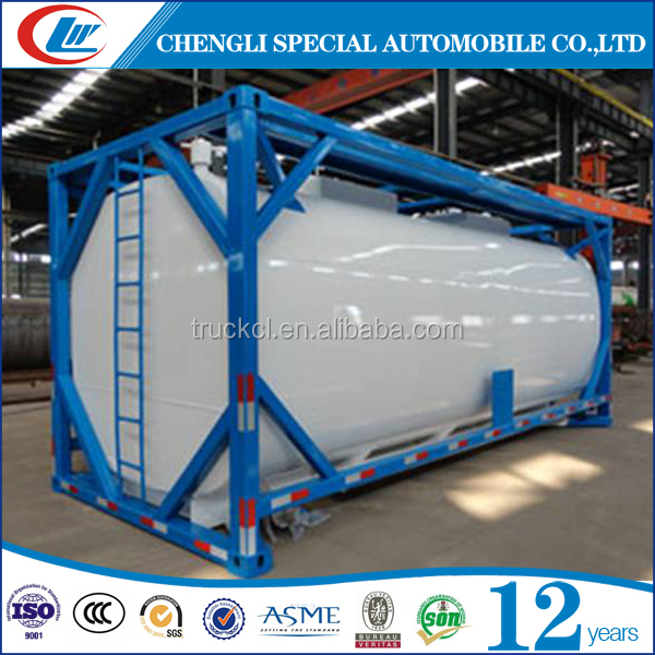 lpg iso tanker container 40ft oil fuel lpg chemical meterial iso tank container iso tank container 20ft for sale