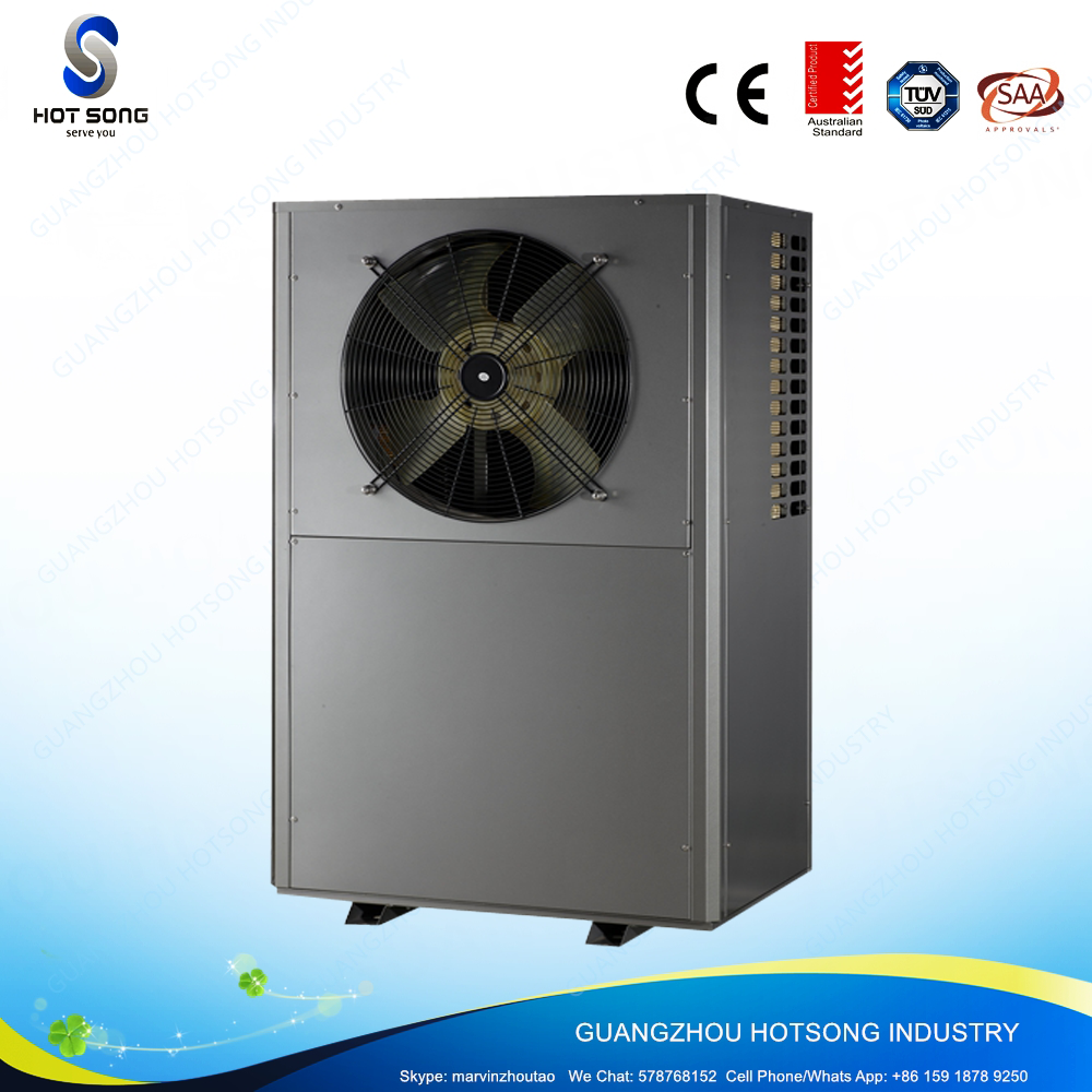 HS-27W/CR monoblock eco-friendly household low-noise mini dc invert air to water heat pump water heater