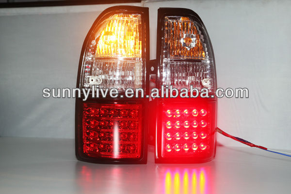 For TOYOTA Prado FJ90 LC90 LED Tail Lamp 1998- 2003 year Red White Color V2 Type