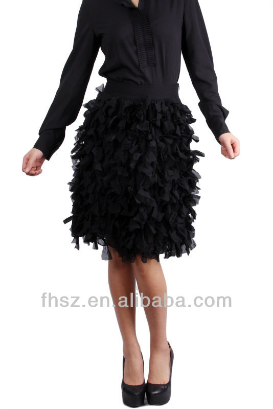 Ladies Fashion sexy Long Sleeve black tiered skirt latest dress designs photos