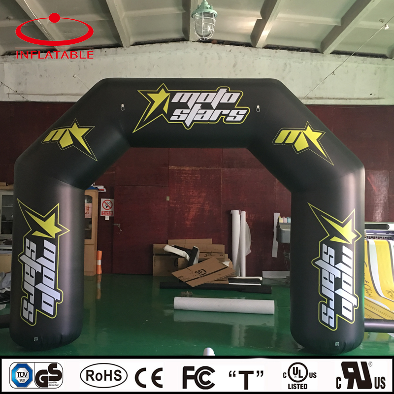custom inflatable black PVC promotion archway with logo printing