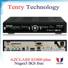 Nagra3 decoder AZclass s1000 plus satellite receiver with IKS account