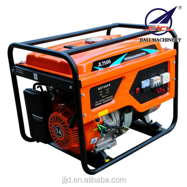 JL-7500E lpg nature gas electric generator