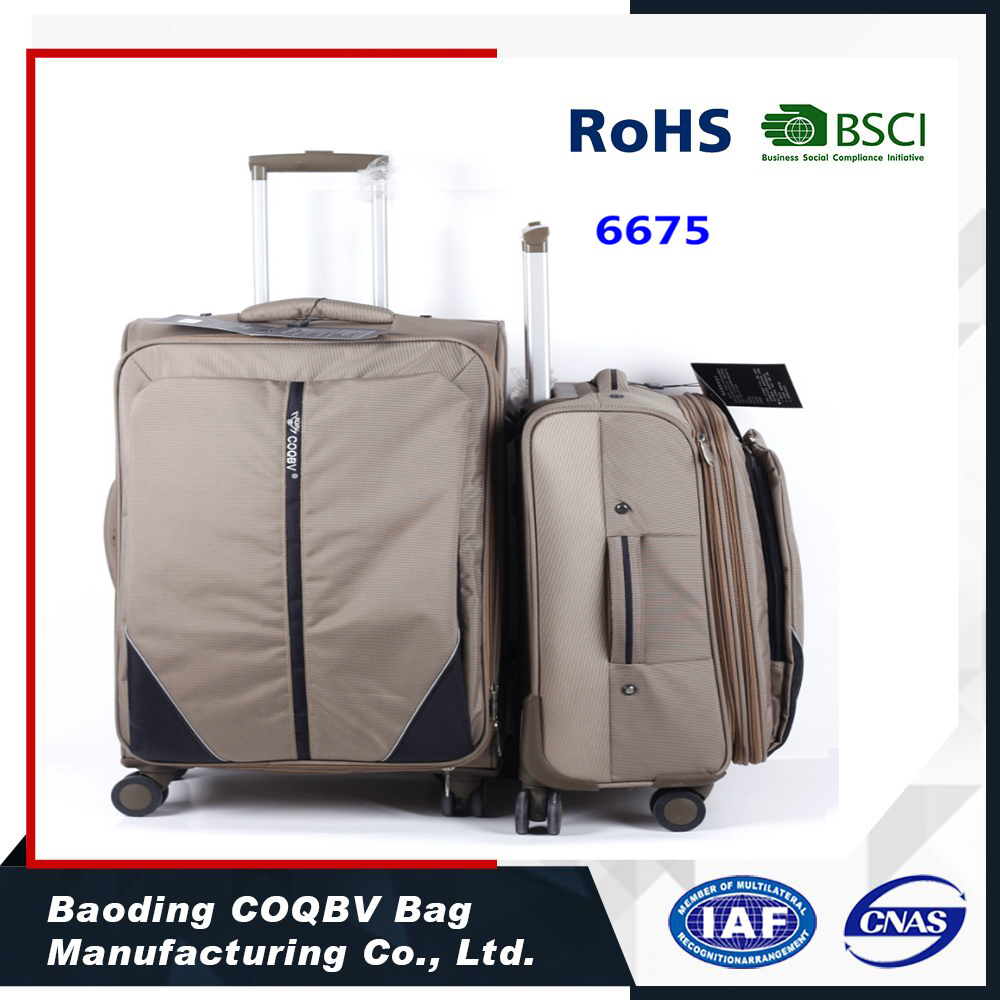 COQBV universal mute wheels travel trolley suitcase/trolley luggage bag sets with big capacity