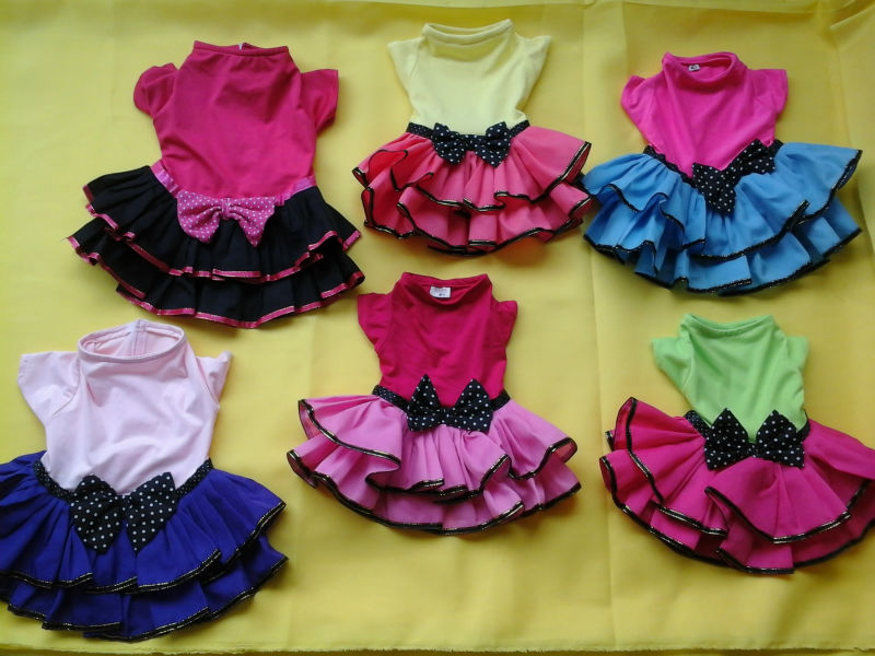 Mixed Assorted Designs Female Pet Dog Dress Clothes Wholesale Supplier