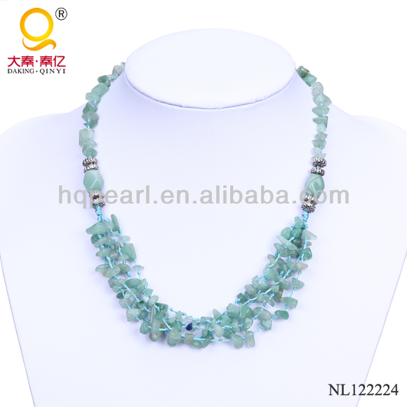Fashion aventurine stone necklace buyers for costume jewelry