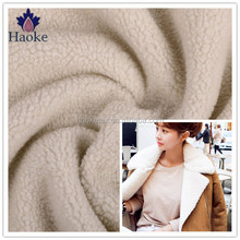 eco-friendly soft plush sherpa lining fabric for fur coat