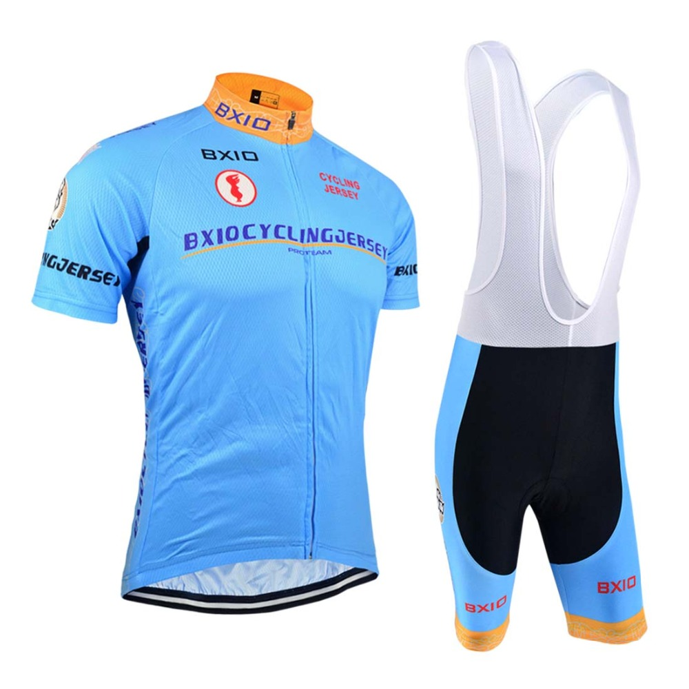 BXIO Men's Short Sleeve Cycling Jersey OEM Bike Sport Wear Bicycle Clothing Breathable Ciclismo Ropa BX-0209B016