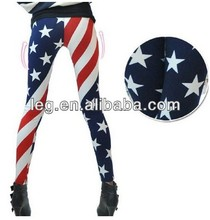 New Fashion Women USA American Flag Stripe Space Star Print Legging