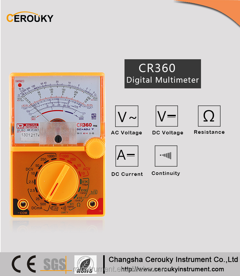 CR360 Factory direct sell pocket yx-360trn analog multimeter