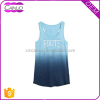 Custom 100% polyester tank tops screen printed fancy ladies sleeveless tops