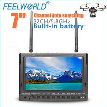 "Camera with lcd screen rc helicopter with gyro 7"" Wireless 5.8GHz fpv Monitor build in battery DVR"