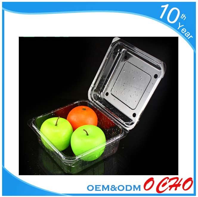 Plastic (ps) food containers / disposable blueberry clamshell