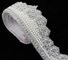 Latest Fashion Stunning Handcrafted Crown Rhinestone Pearl Trimming R2719F01