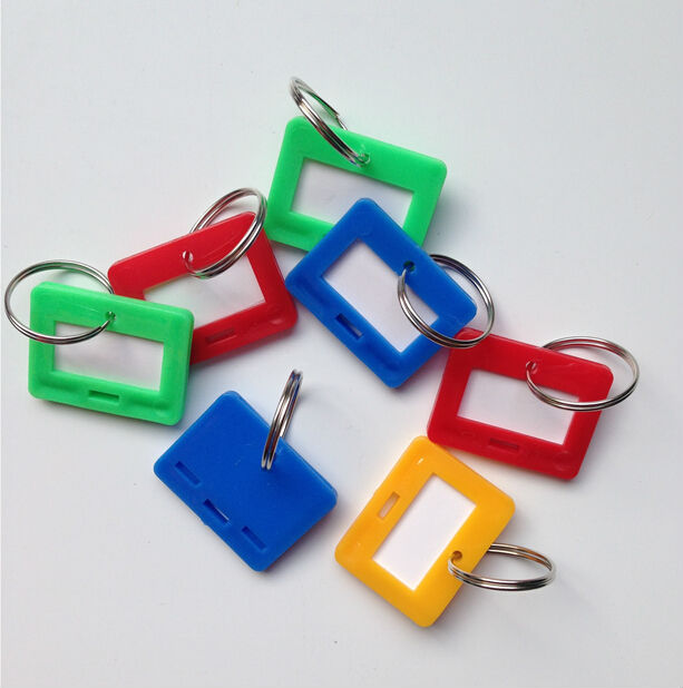 colorful pvc hotel key ring