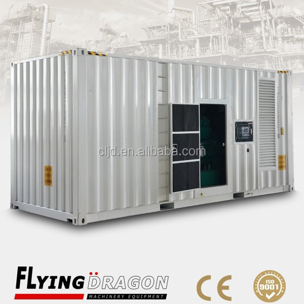 Containerized power generator 1mw ,40'GP standard generator diesel prices
