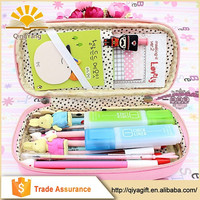 Fashion Cute Cartoon giraffe pencil case for school with compartments kids stationery