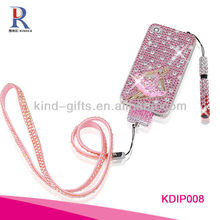 2013 New Design With Rhinestone Cell Phone Case for iphone 5c/5s