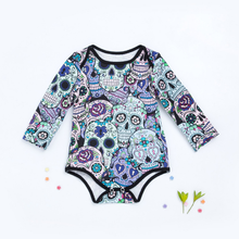 Skeleton long sleeve rompers kids baby wear clothes