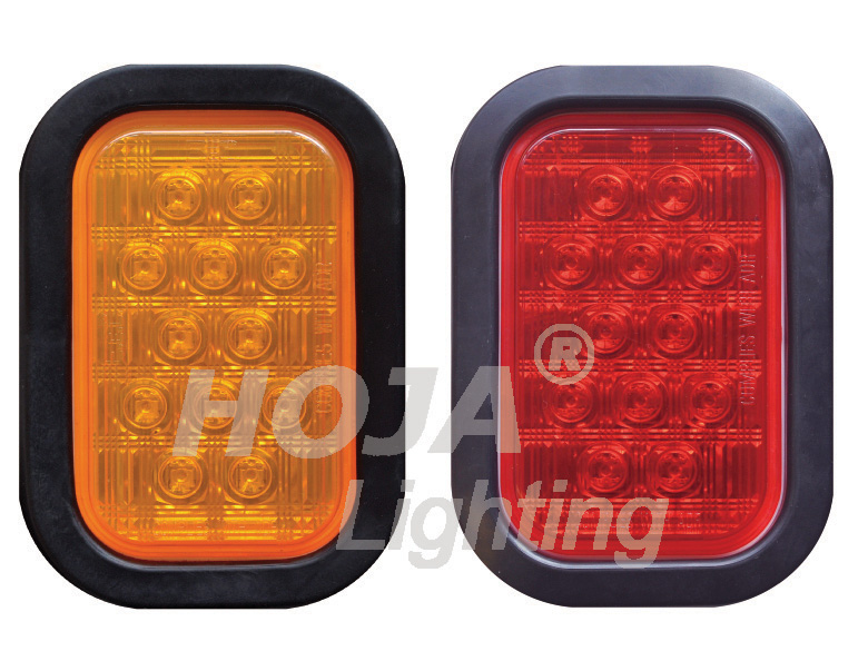 Rectangular LED Tail Light, STOP/TURN/TAIL led trailer tail lamp