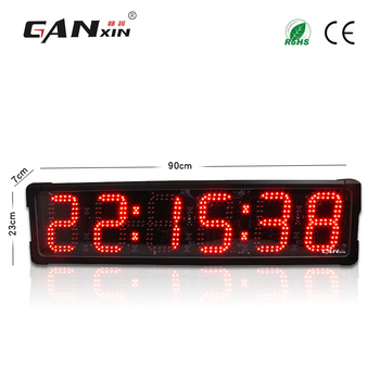 "[Ganxin]2018 Double Side 6"" 6 Digit Manufacturer Supply Led Digital Race Timer Outdoor"