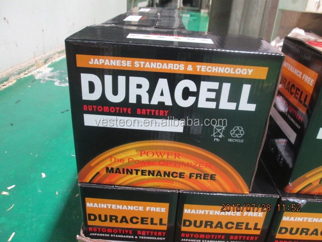 DURACELL car battery maintenance free batteries for cars from 12V32AH to 12V220AH