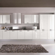 modern high gloss lacquer white color kitchen cabinet design