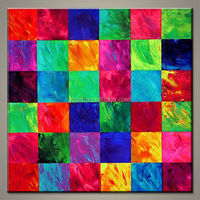 Wholesale modern colorful abstract painted canvas wall hangings