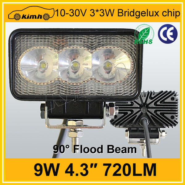 "High power 9w 4.3"" construction 9w led work light"