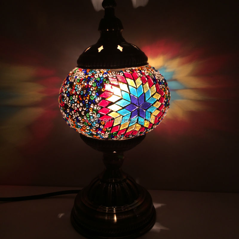 2015 New Design home decorative Made in China (TC1M01-2015) glass Handmade Mosaic Art Turkish table Lamps