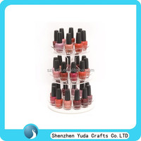 3 tiered round rotating acrylic nail polish display stand in cheap price