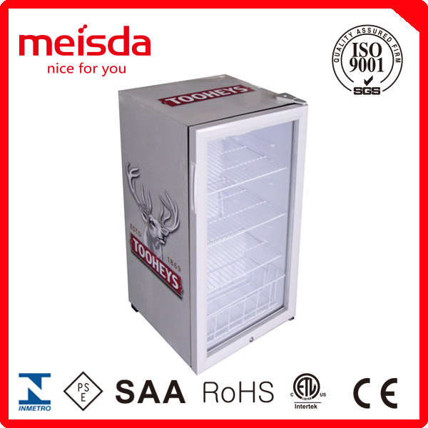 Meisda Hot selling single door display refrigerator showcase,counter top showcase