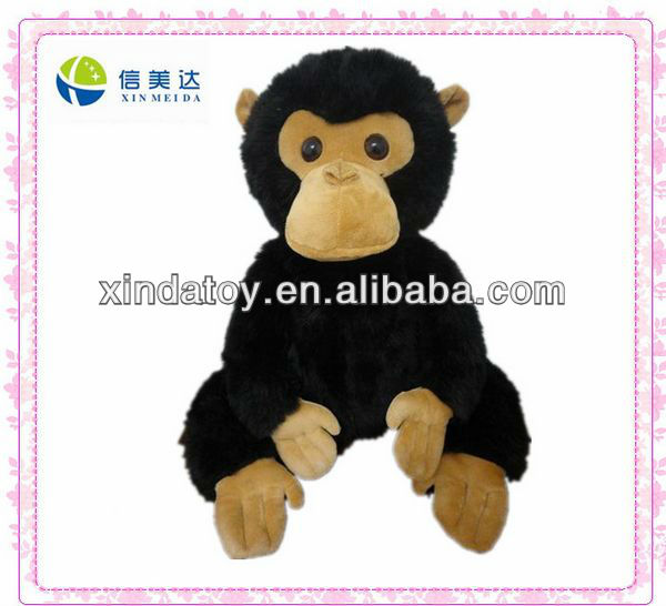 Plush black chimpanzee