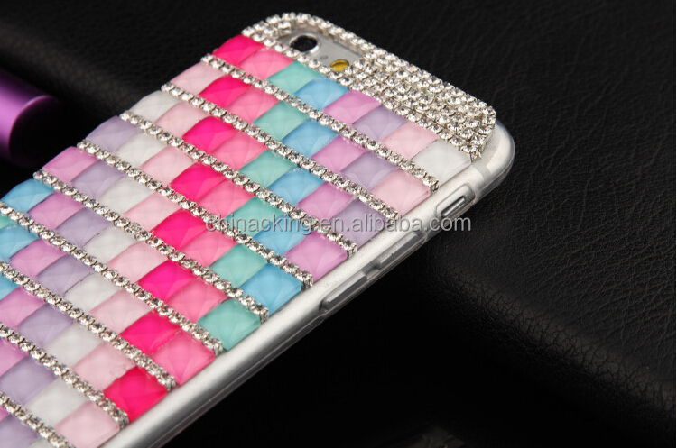 2015 hot custom design bling case for iphone 6