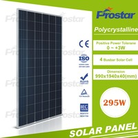 poly 295w solar panel in high quality With 100% TUV/CE/UL standard