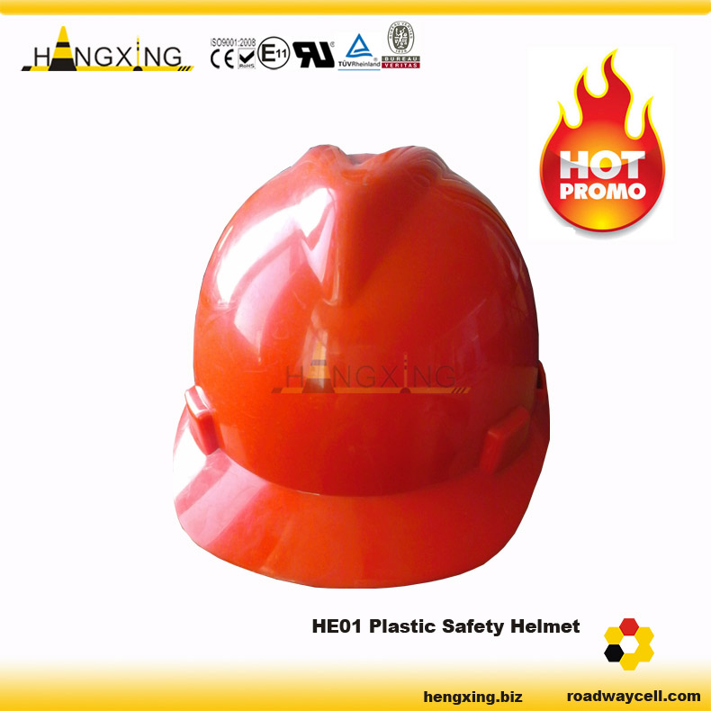 HE01 PE or ABS Material Various Colors Firefighting Safety Helmet